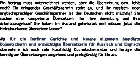 zentrale lage im stadtbezirk berlin prenzlauer berg - Bewerbung Ubersetzung